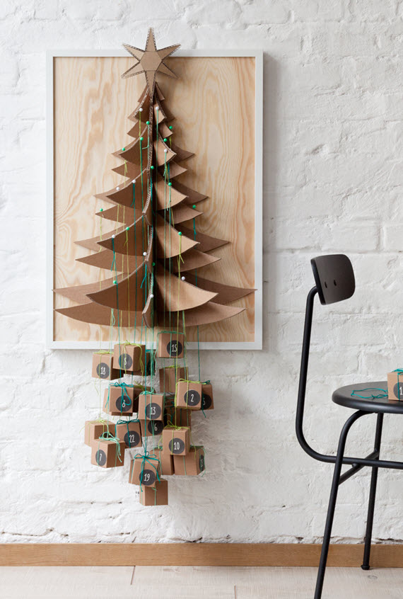 DIY advent calendar // christmas tree // via @simplifiedbee