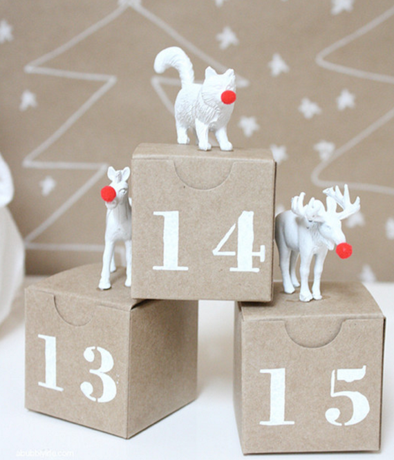 DIY plastic animal advent calendar