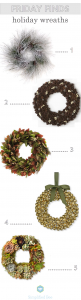 holiday wreaths // via @simplifiedbee #holidaydecor #wreaths