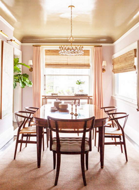 pale pink dining room // lonny