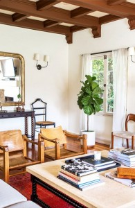 vintage safari chairs // living room