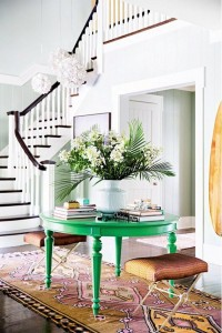 TRIBAL RUG IN TRADITIONAL ENTRY // KATIE LEE