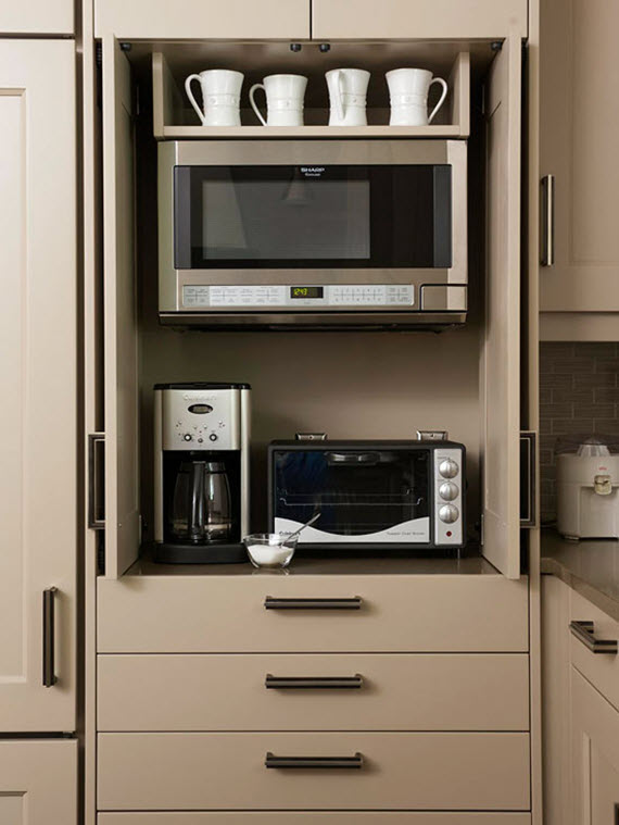 cabinet for the microwave // kitchen
