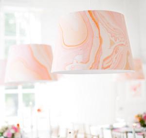 wallpapered lampshade #wallpaper