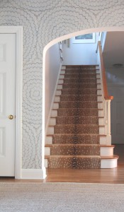 foyer // antelope carpet stair runner // @simplifiedbee