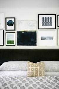 artwork above bed // bedroom // H2 Design + Build