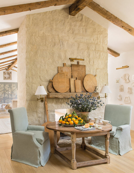 breakfast area // steve and brooke giannetti // patina farm