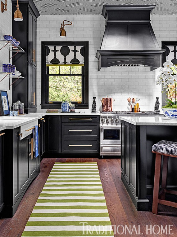 black kitchen // lisa mende design