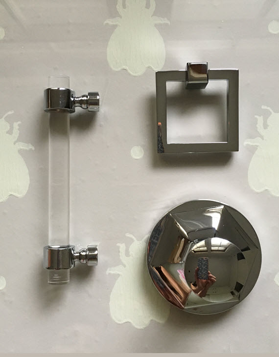 Foyer Cabinet Knobs : Lucite cabinet pulls low narrow walnut entryway credenza