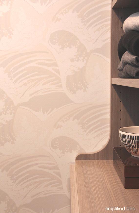wave pattern wallpaper // closet // @siimplifiedbe