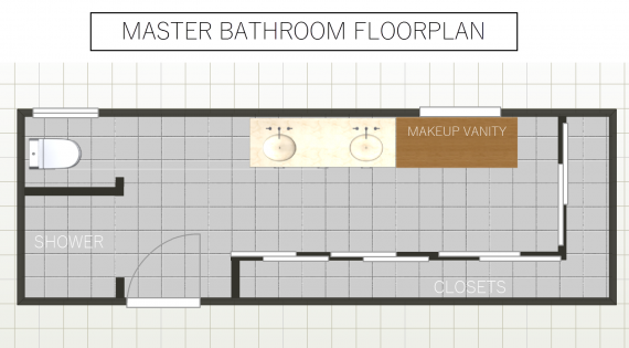 master bath floorplan // @simplifiedbee