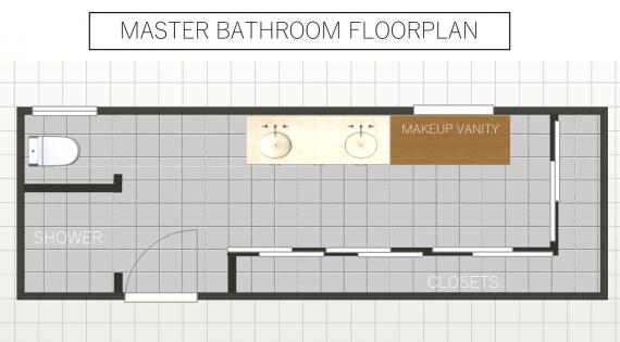 master bath floorplan // @simplifiedbee