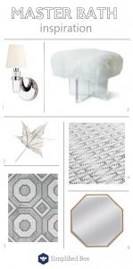 master bathroom inspiration // one room challenge // @simplifiedbee