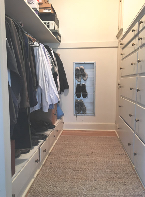 master closet before // @simplifiedbee // #oneroomchallenge