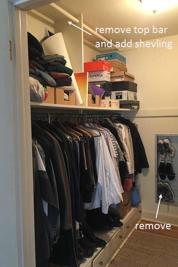 master walk-in closet before // ORC // simplified bee