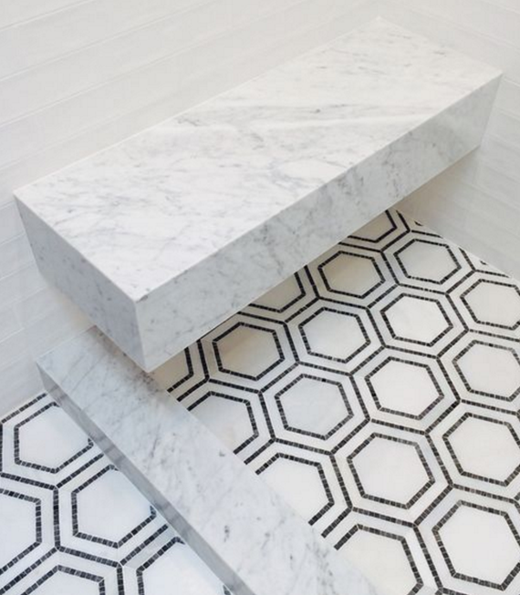 mosaic tile floor // bathroom // grant gibson