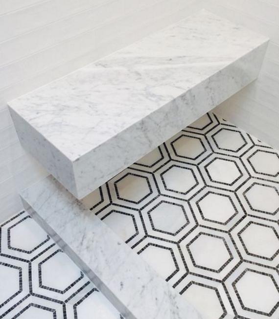mosaic tile floor // bathroom // grant gibson