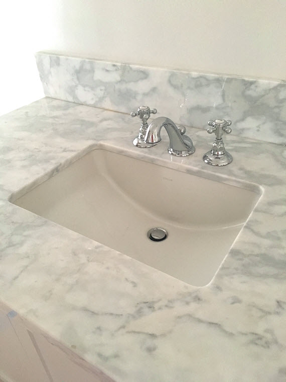 master bathroom // rohl faucet and kohler sink // @simplifiedbee
