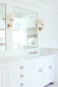white bathroom // laura tutun interiors