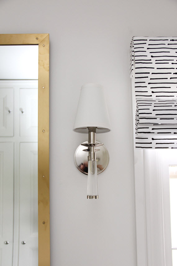master bathroom // glass sconce detail // @simplifiedbee #oneroomchallenge