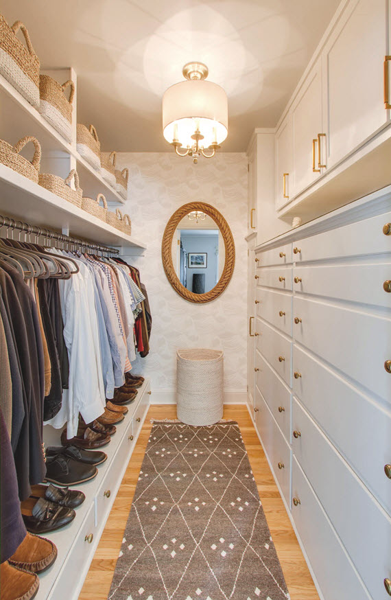 walk-in closet for him // @simplifiedbee #oneroomchallenge
