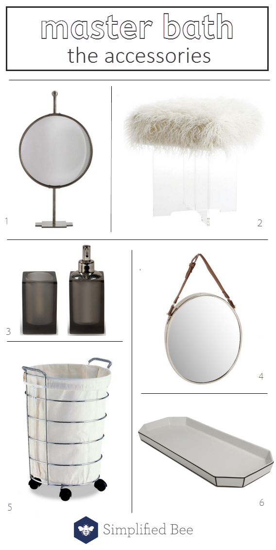 master bathroom accessories // @simplifiedbee #oneroomchallenge