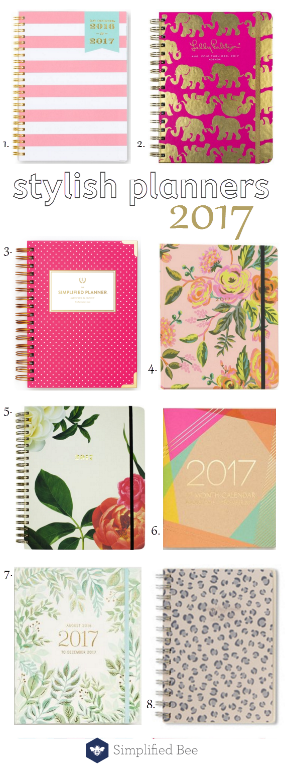 stylish planners for 2017 // @simplifiedbee #2017 #planners