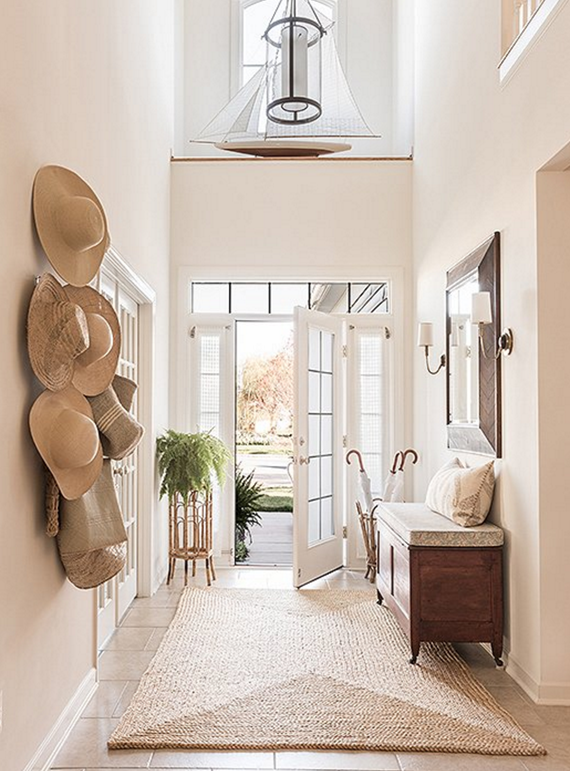 light & airy entryway