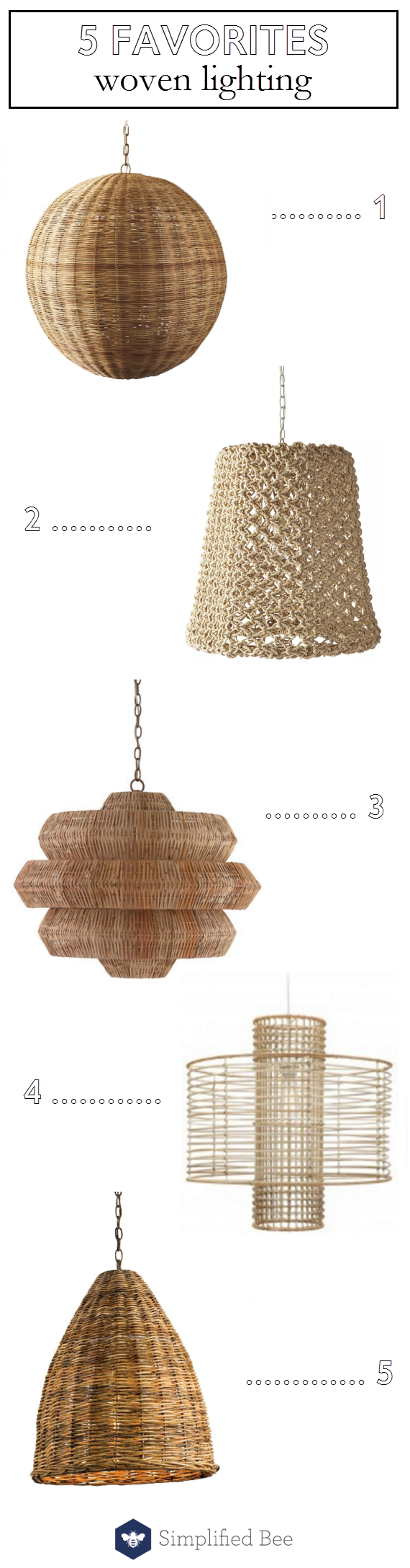 woven pendant lighting // @simplifiedbee #lighting