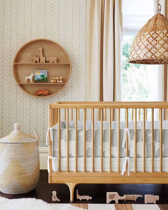woven pendant lighting // nursery room