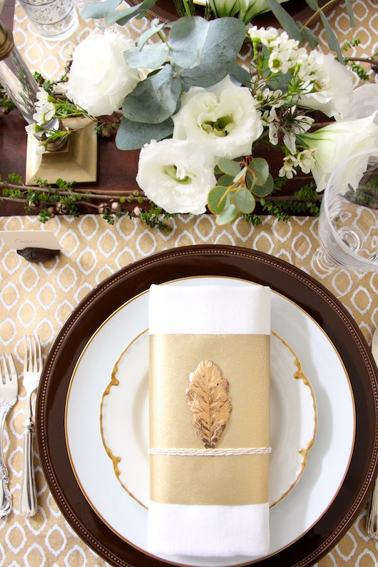 gold thanksgiving tabletop // sacramento street