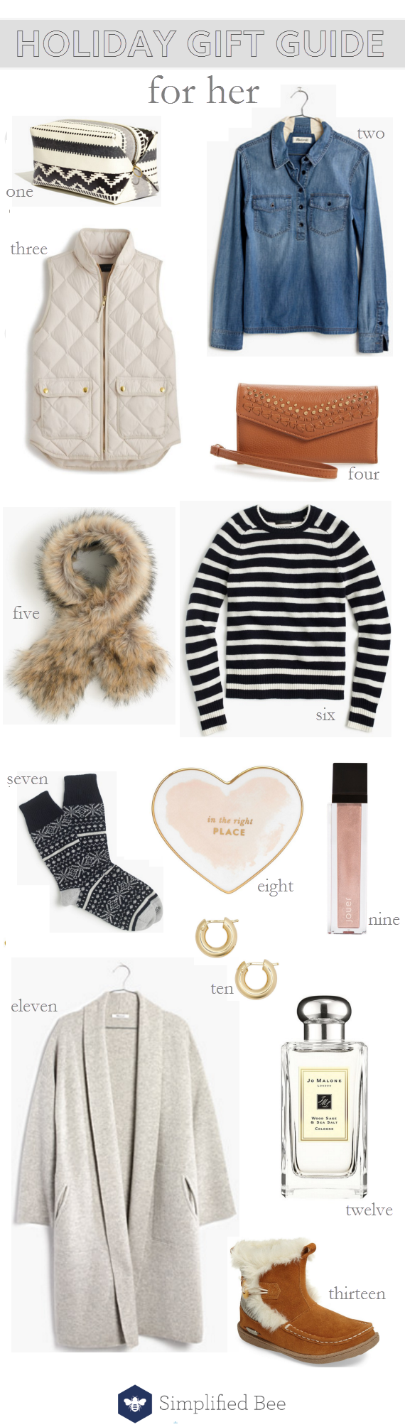 holiday gift guide 2016 // for her #giftguide #holiday #fashion