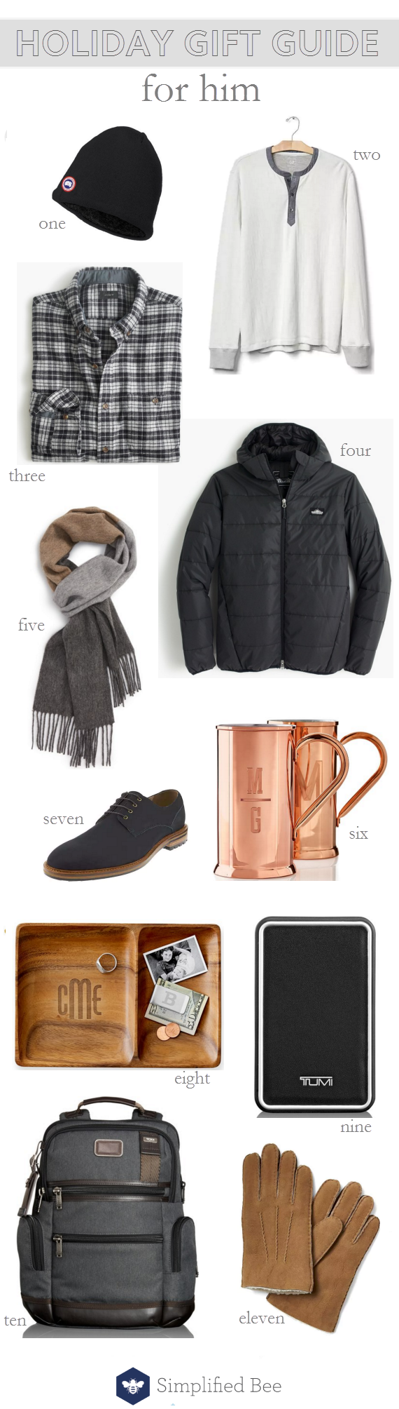 holiday gift guide 2016 // for him // via @simplifiedbee