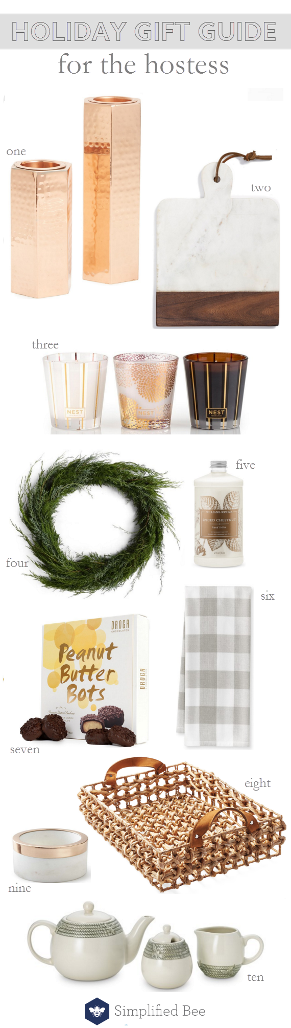 holiday gift guide 2016 // for the hostess #giftguide2016 #holiday2016