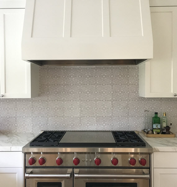 kitchen range + tile backsplash // design by Cristin Priest @simplifiedbee