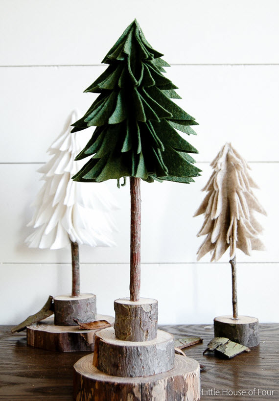DIY Felt Christmas Trees