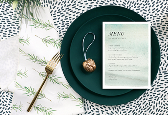 holiday table setting // minted.com