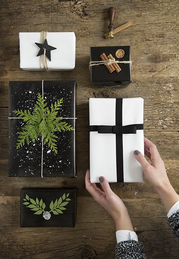 simple, natural christmas gift wrap