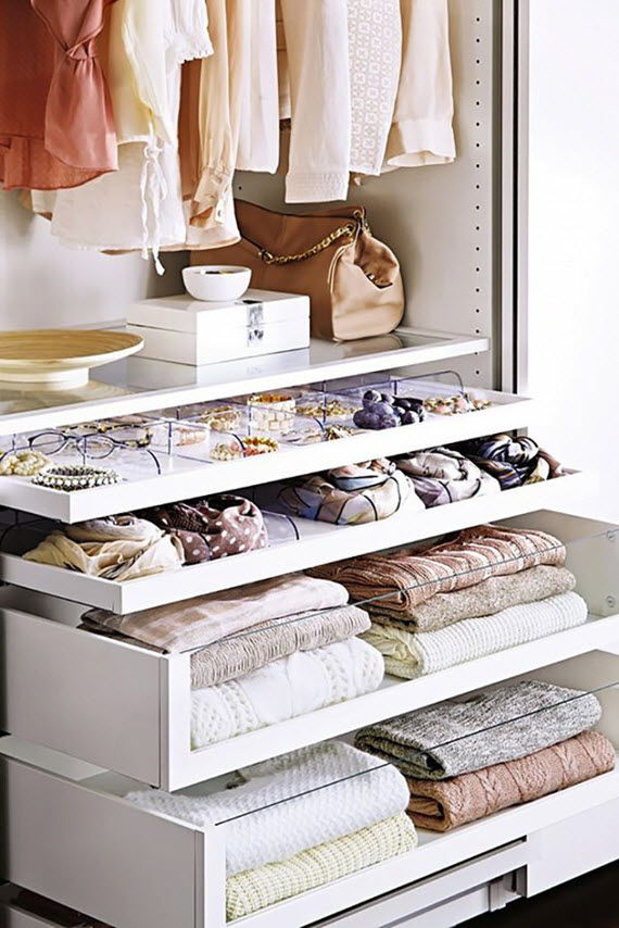 acrylic front drawers // closet organization