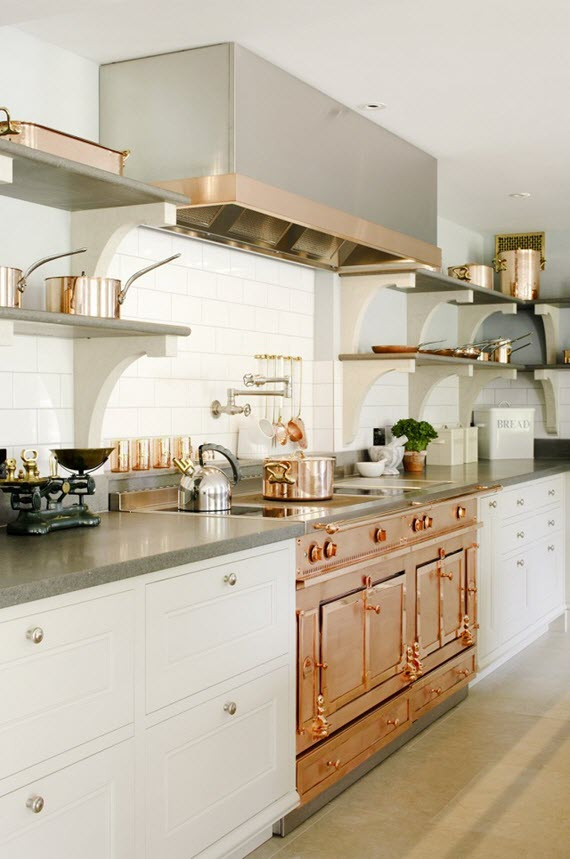 copper kitchen #range #copper