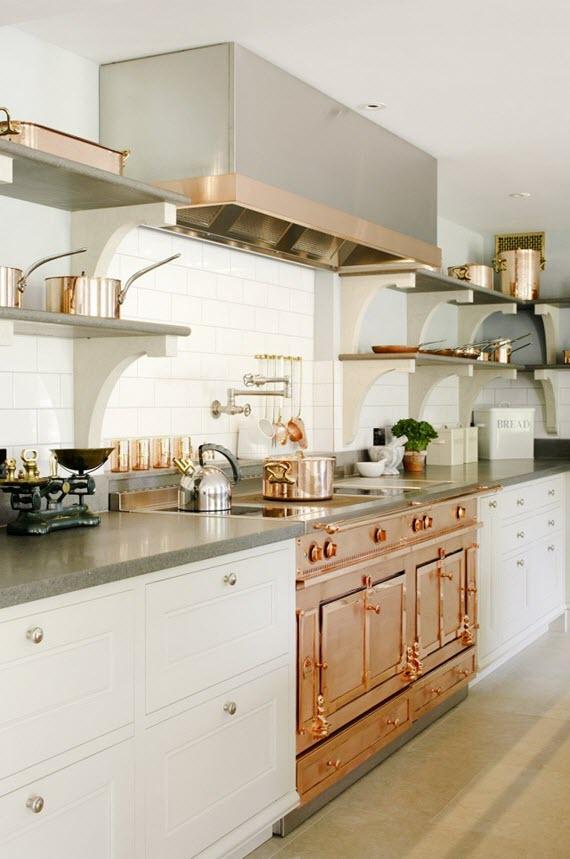 copper kitchen #range #copper