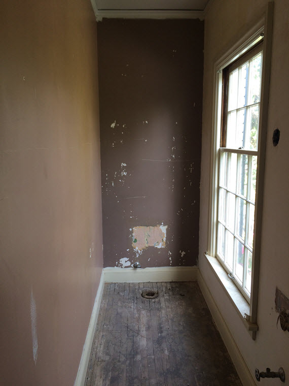powder room demo