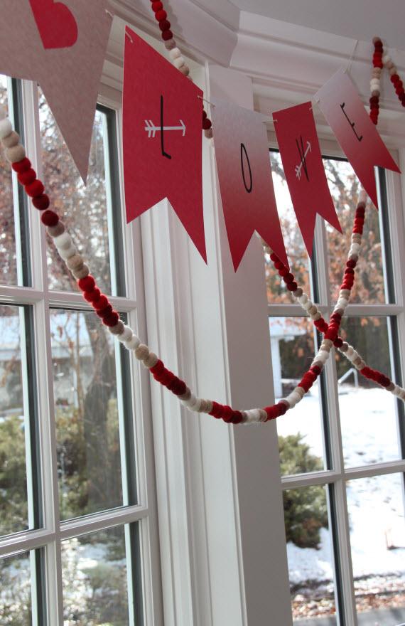 Valentine's Day // Love Bunting Banner