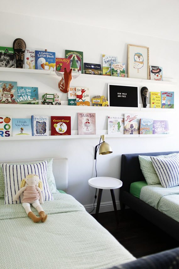 kids bedroom + book wall #kids