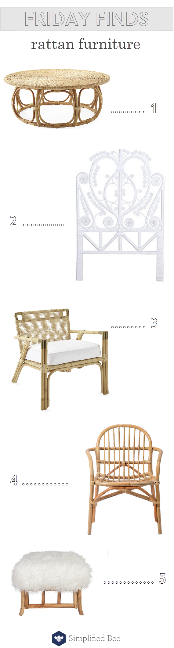 rattan furniture // friday finds // @simplifiedbee