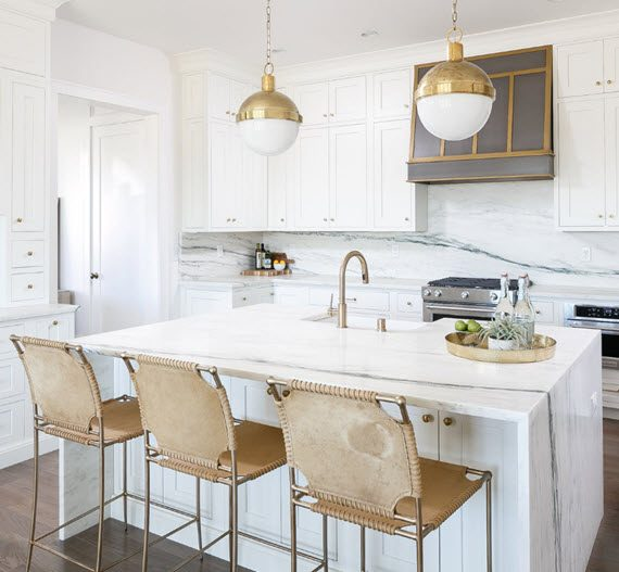 Waterfall Kitchen Island Inspiration: Kitchen Trend :: Waterfall Countertop