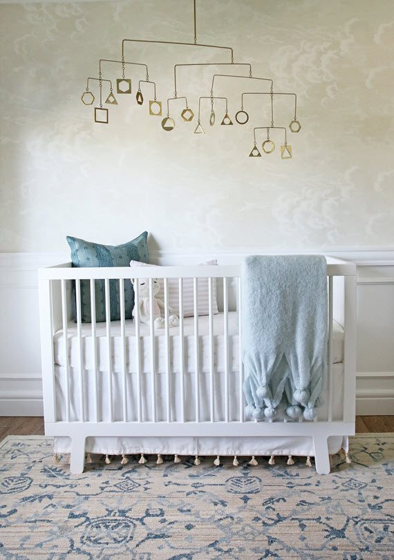 serene boy's nursery room