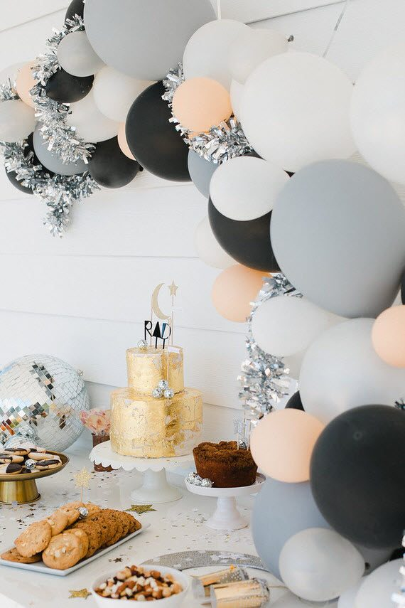 modern girl's birthday // pink, gray & black
