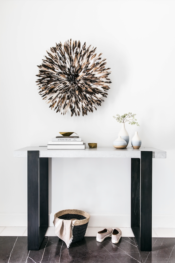 juju hat // console table // entry