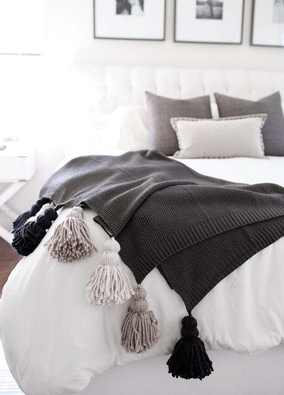 diy tassel blankets #tassels #diy